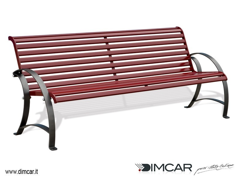 Metal Bench with armrests Panchina Artemide by DIMCAR