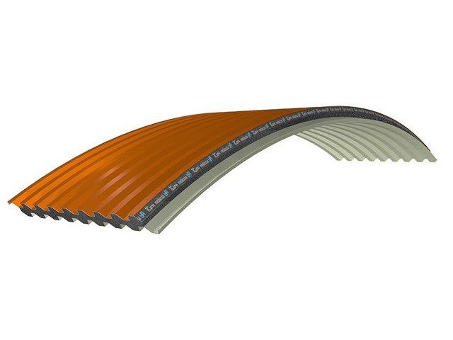 Insulated metal panel for roof PANEL C-GG EPS150 GRAPHITE by iCurvi di Medacciai