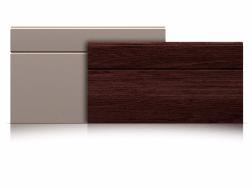 Sectional garage door Panels with asymmetrical groove by Marcegaglia