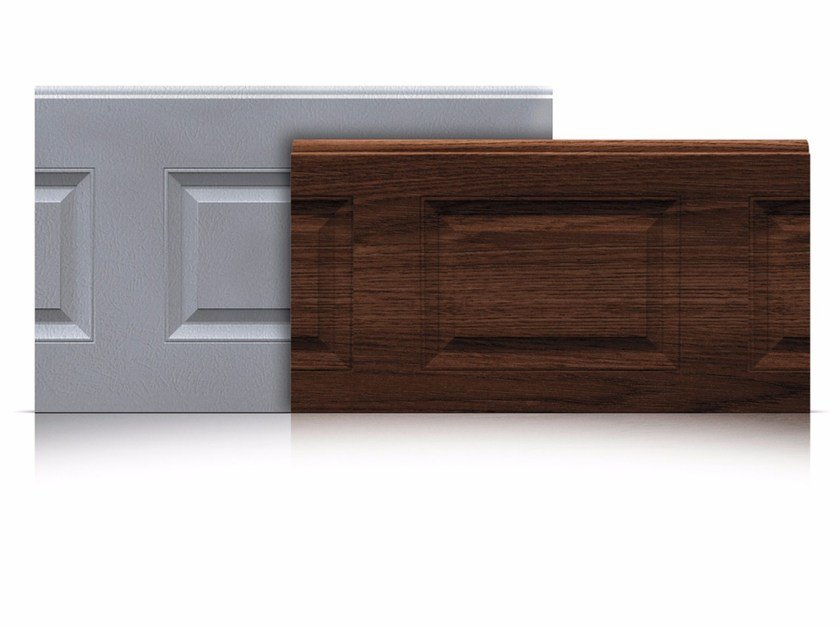 Sectional door panels Panels with coffered outer surface by Marcegaglia