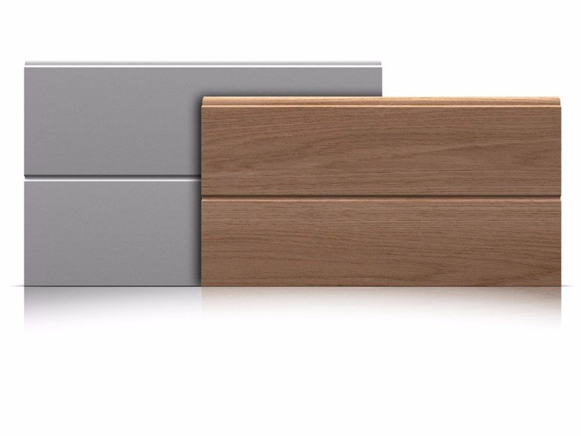 Sectional garage door Panels with middle groove by Marcegaglia