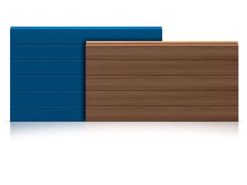 Sectional door panels Panels with ribbed outer surface by Marcegaglia