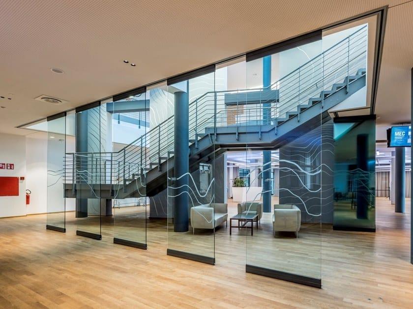 Pareti Fotografie : Trennwand aus kristall mit falttüren parete scorrevole in