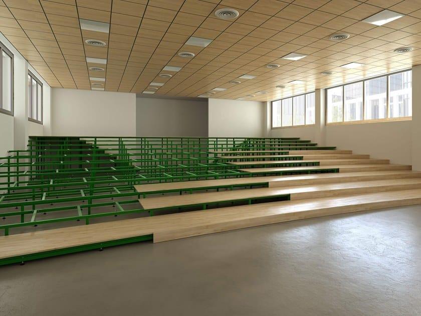 Sistema modulare per palco e tribuna in metallo Pedane e Tribune Fisse by LAMM