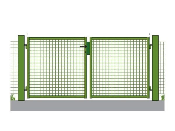 Electrically welded mesh gate Pedestrian gate by GRIGLIATI BALDASSAR