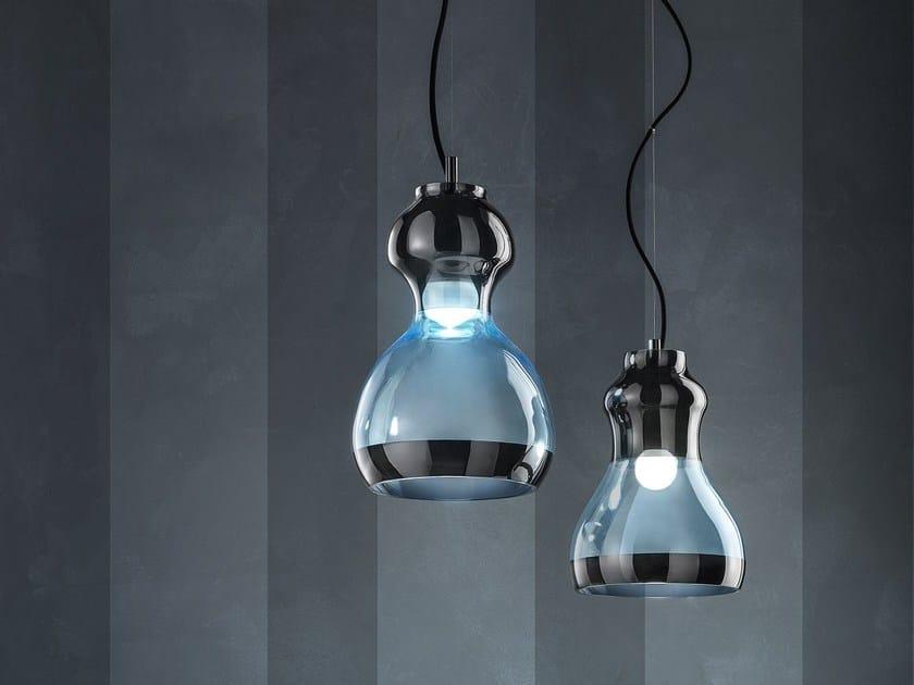 Glass pendant lamp INFINITY by Euroluce Lampadari