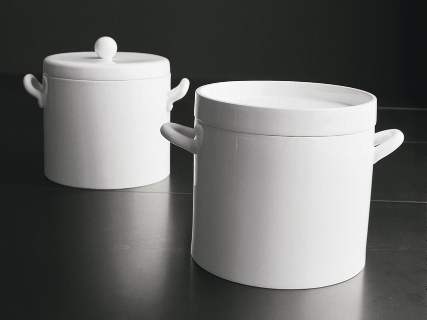 Ceramic stockpot with lid Pot by Adriani e Rossi edizioni