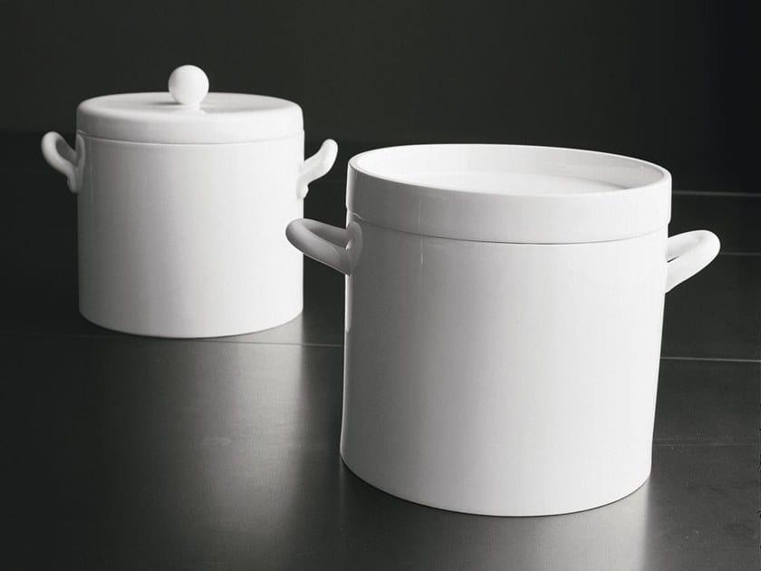 Pentola alta in ceramica con coperchio Pentola by Adriani e Rossi edizioni