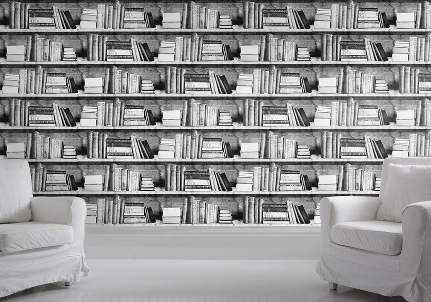 Wallpaper PHOTOCOPY BOOKSHELF by Mineheart