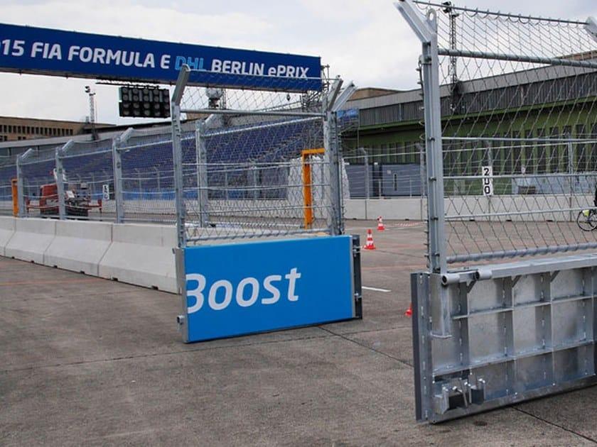 Swing Motorized steel gate Pit wall gate by GEOBRUGG