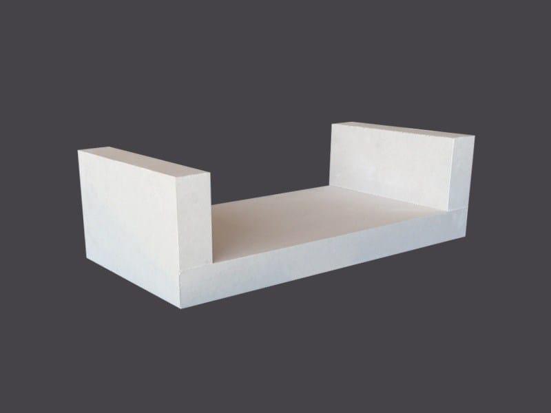 U-shaped shelves in Plasterboard U-SHAPED SHELVES by Gyps