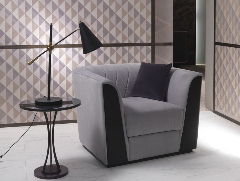 Fabric armchair with armrests MADISON | Armchair by Carpanelli Contemporary