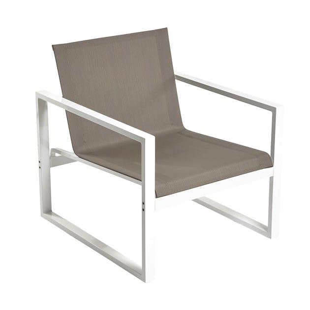 Contemporary style metal garden armchair with armrests Poltrona da giardino Loto by Mediterraneo by GPB