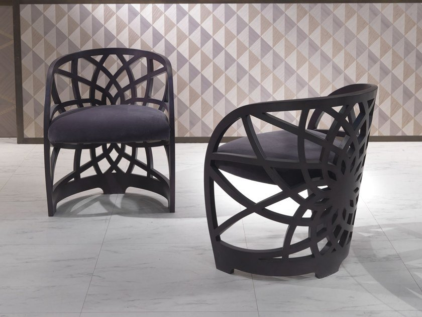 Upholstered chair with armrests GALILEO | Chair with armrests by Carpanelli Contemporary