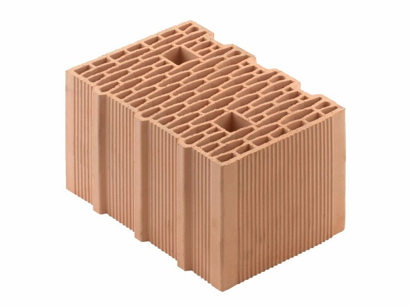 Loadbearing clay block for reinforced masonry Porotherm BIO 35-25/19 T by Wienerberger