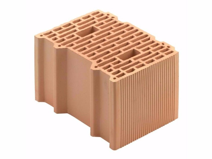 Loadbearing clay block for reinforced masonry Porotherm BIO 35-25/19 by Wienerberger