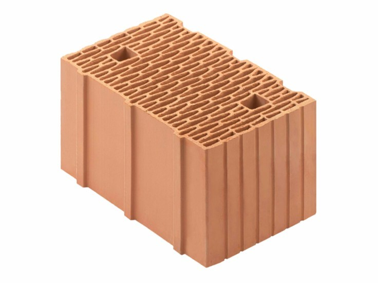 Loadbearing clay block for reinforced masonry Porotherm BIO 38-25/19 T by Wienerberger