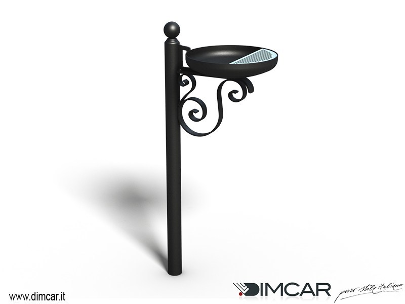 Steel ashtray Posacenere Barocco by DIMCAR