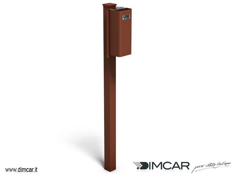 Steel ashtray Posacenere Cenerino con colonnino by DIMCAR