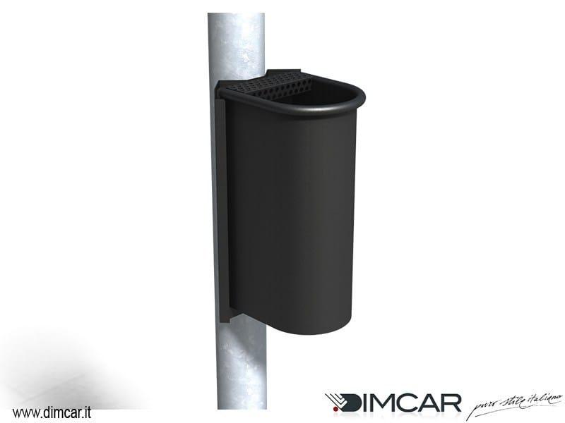 Steel ashtray Posacenere Cicco con attacco su palo by DIMCAR