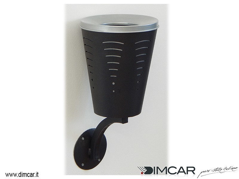 Wall-mounted steel ashtray Posacenere Twister a muro by DIMCAR