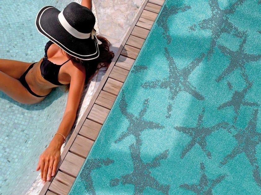 Rectangular polypropylene outdoor rugs DAFNE STELLE MARINE by Italy Dream Design