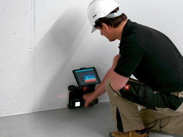 Instrumentation for load test and trial Proceq GPR Live by Pasi