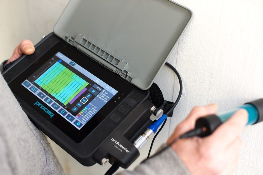 Instrumentation for load test and trial Profometer Corrosion by PASI