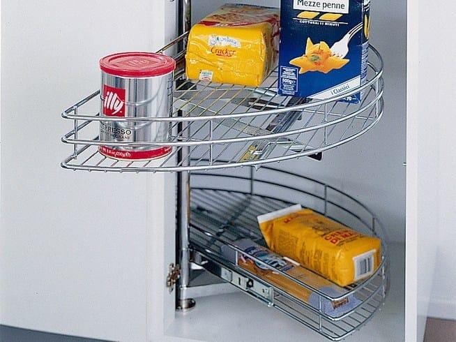 Cestelli Girevoli Per Mobili Da Cucina.Accessorio Interno Per La Cucina In Acciaio Cestello A