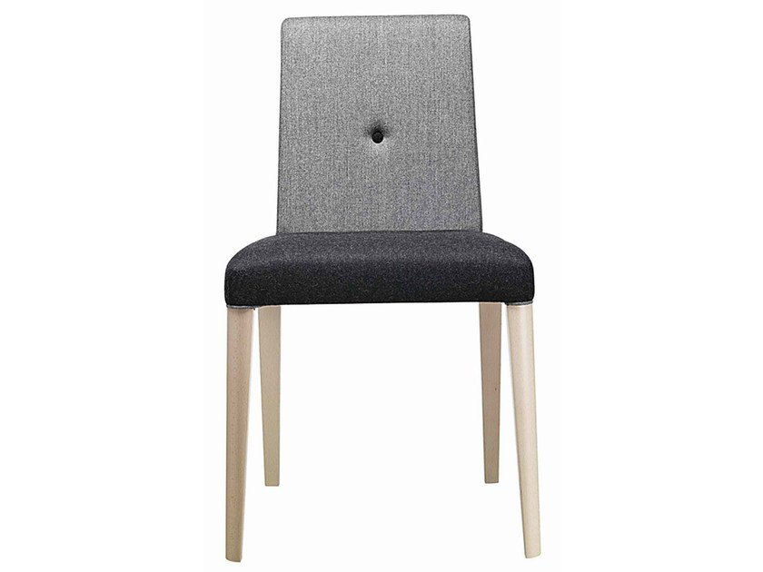 Upholstered wooden chair Punto 190 by Metalmobil