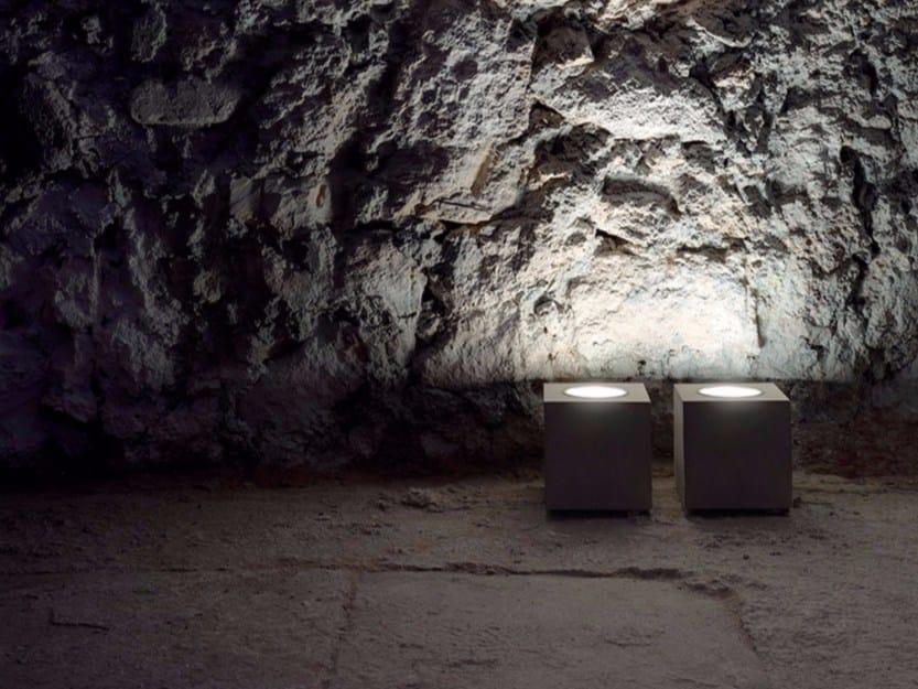 Lampada da terra in vetro e metallo Q² by DAVIDE GROPPI