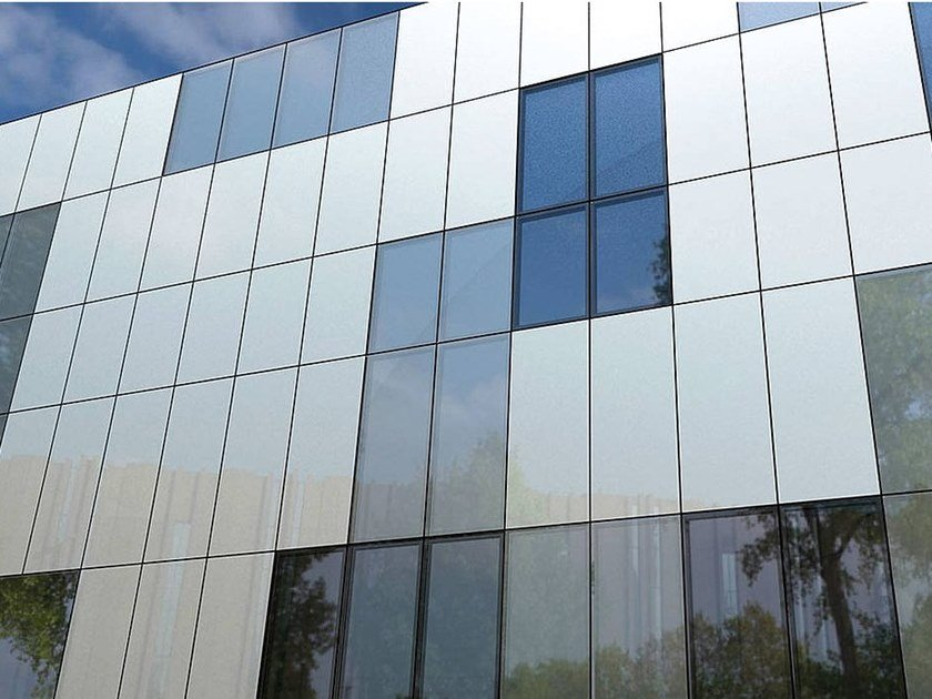 Structural glass facade Q-AIR by Trimo