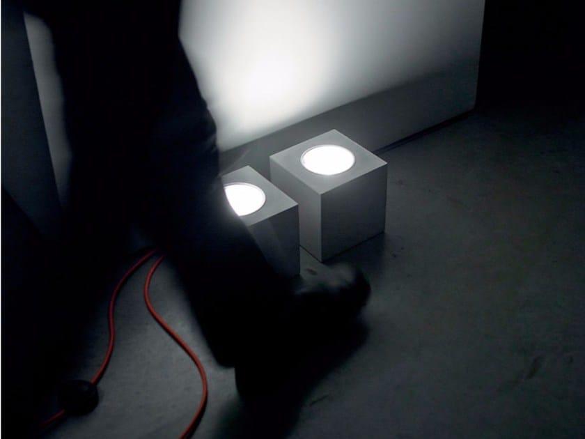 Cement floor lamp Q | Floor lamp by DAVIDE GROPPI