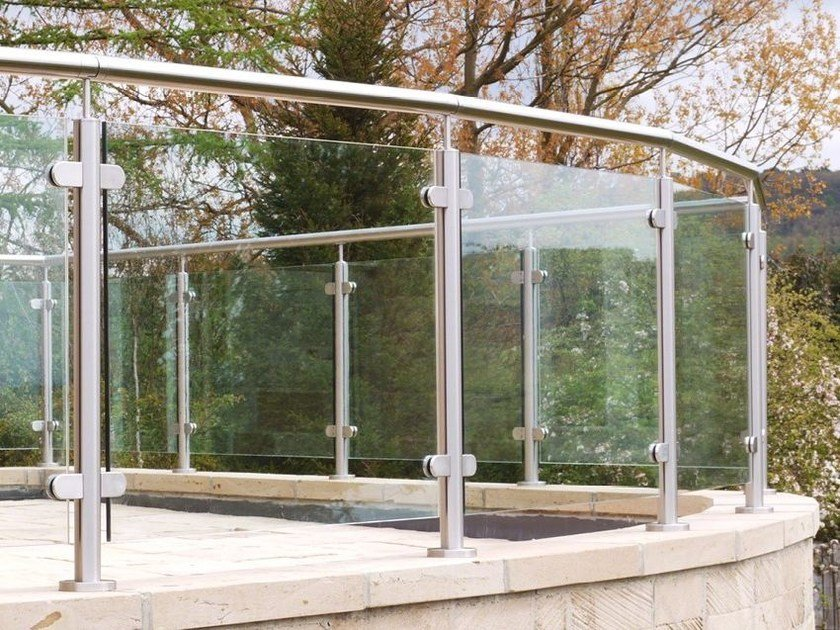 Glass and steel balustrade Q-LINE ® | Glass and steel balustrade by Q-RAILING ITALIA