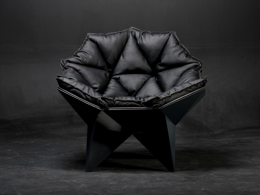 Lounge chair Q1 BLACK by ODESD2