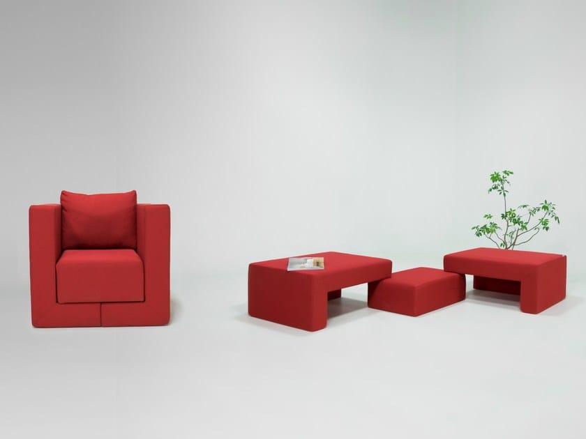 Polyester armchair / bench Q6 by Feydom