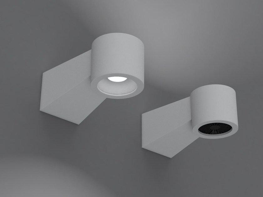 Indirect light aluminium wall lamp Q8-HP | Wall lamp by Martinelli Luce