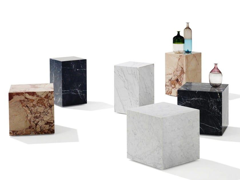 Natural stone stool / coffee table QBIC by Draenert
