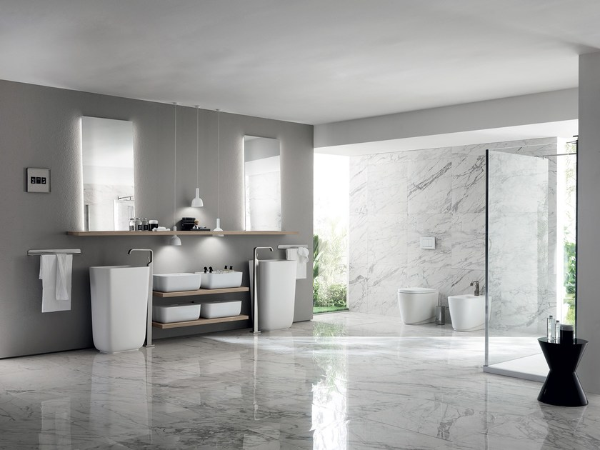 Bathroom furniture set qi by scavolini bathrooms design nendo for Scavolini prices