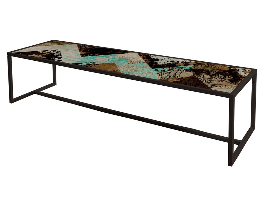 Rectangular painted metal coffee table QR-6A/6B by MOMENTI