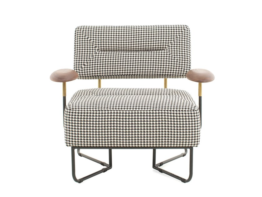 Upholstered fabric armchair with armrests QT CHAIR by STELLAR WORKS
