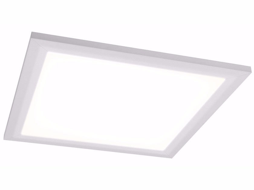 Aluminium wall lamp / ceiling lamp QUAD X 30x30 18W by Quicklighting