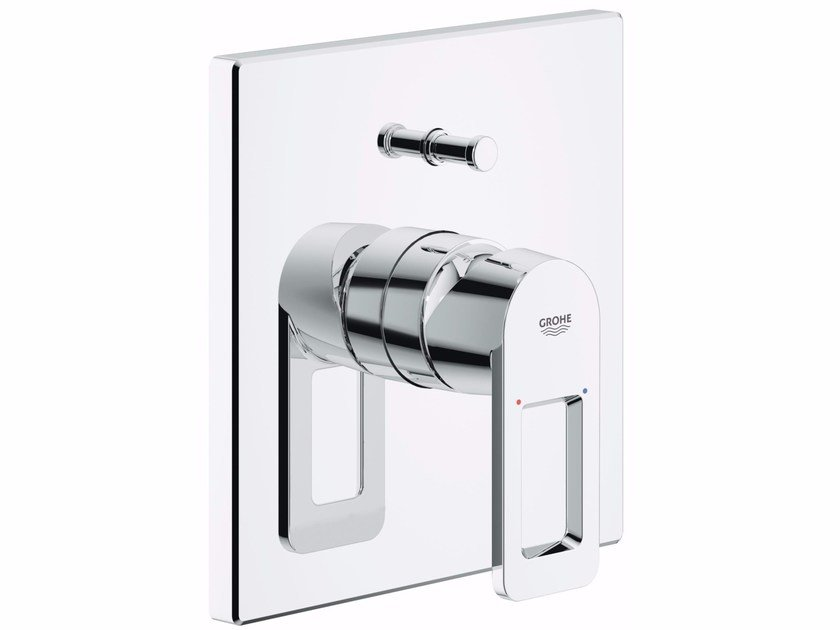 Contemporary style 2 hole wall-mounted metal bathtub mixer with diverter QUADRA | Bathtub mixer by Grohe
