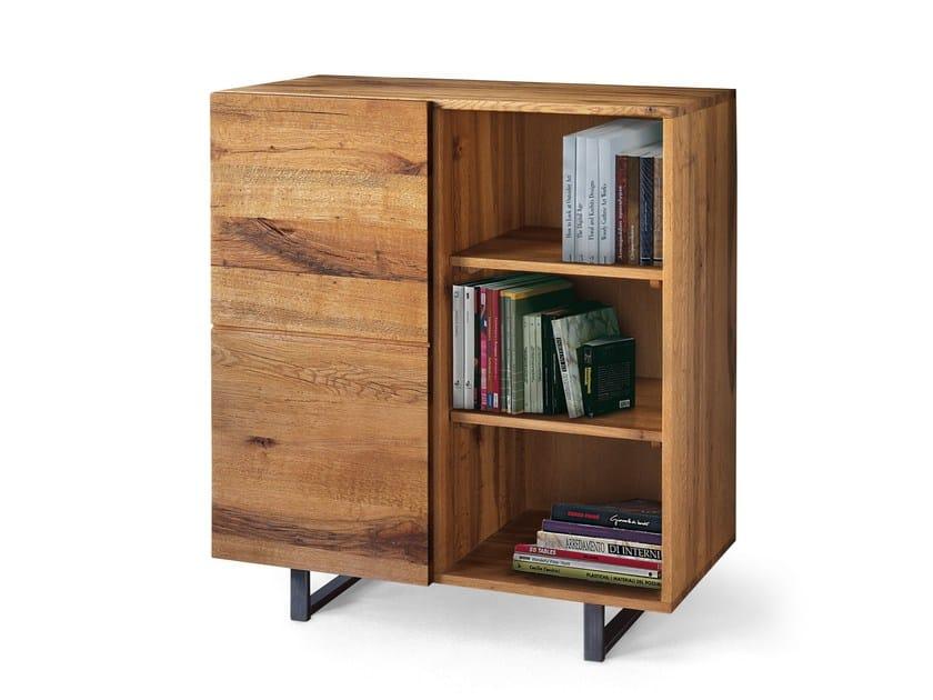 Solid wood highboard QUADRA OFFICE | Highboard by Oliver B.