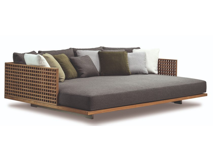 Double teak garden bed QUADRADO | Garden bed by Minotti