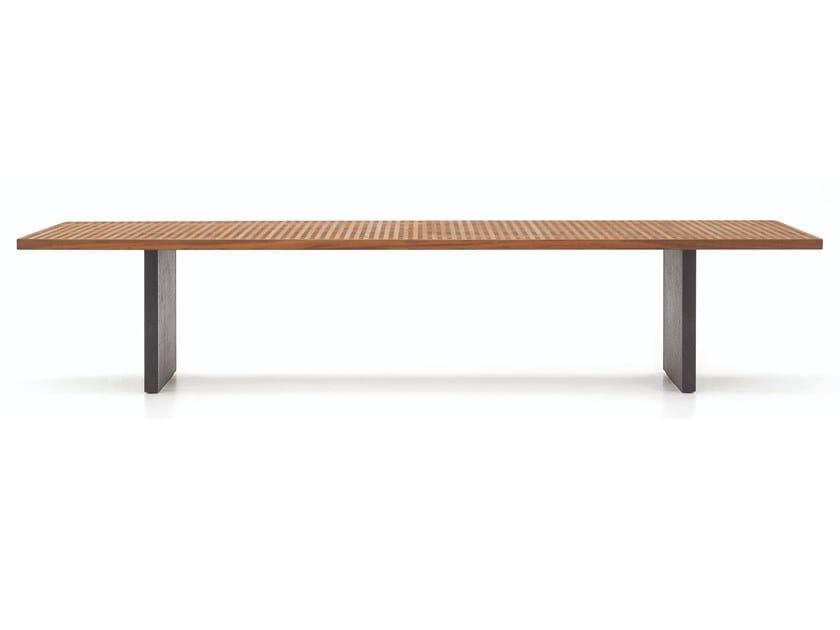 Rectangular teak garden table QUADRADO | Table by Minotti