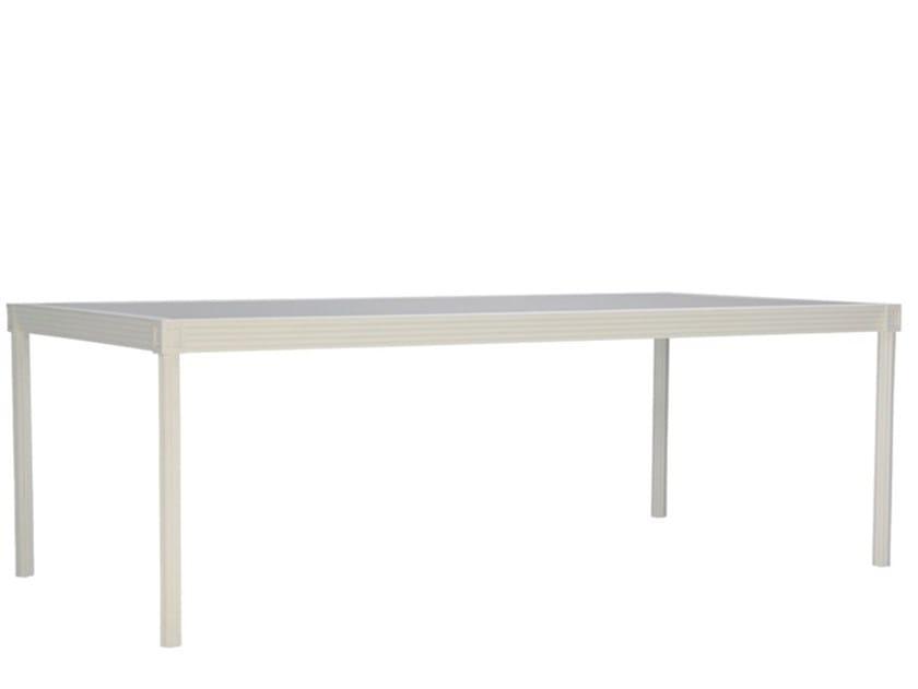 Rectangular glass and aluminium dining table QUADRATL | Rectangular table by JANUS et Cie