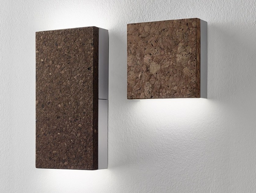LED cork wall light QUADRI by Exporlux