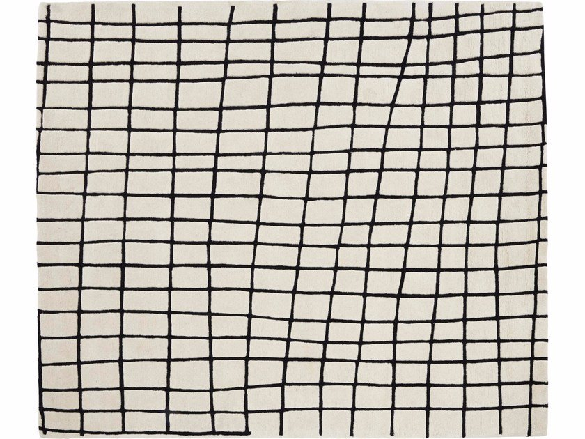 Rectangular wool rug with geometric shapes QUADRIC by Ligne Roset