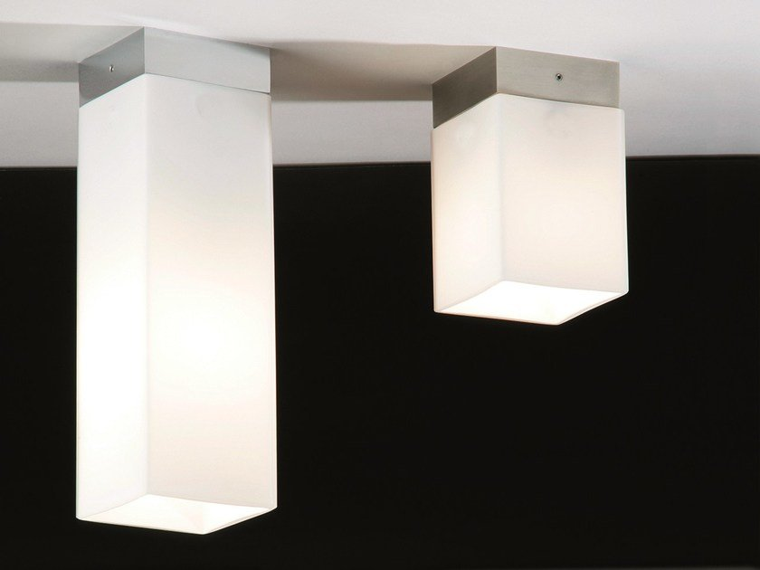 Lampada da soffitto in vetro opale QUADRO BOX by Top Light
